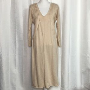 Free People Sophie Champagne Midi Dress Size Med